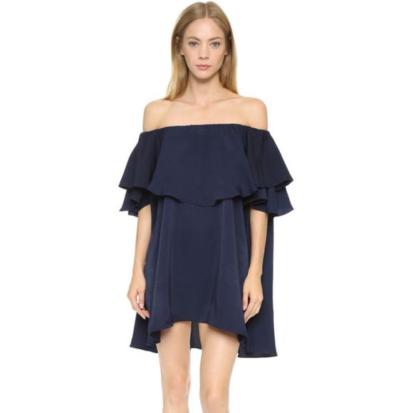3d1a9c8e1e643 MLM Dresses   Off The Shoulder Label Ruffle Dress   Poshmark